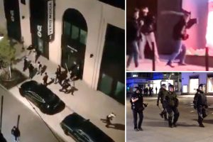 'Migrant' looters ransack shops and attack cops and paramedics during worst riots in Stuttgart's history