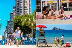 Brits greeted by 37C heatwave in Spain as beaches reopen just in time for first holidays since coronavirus