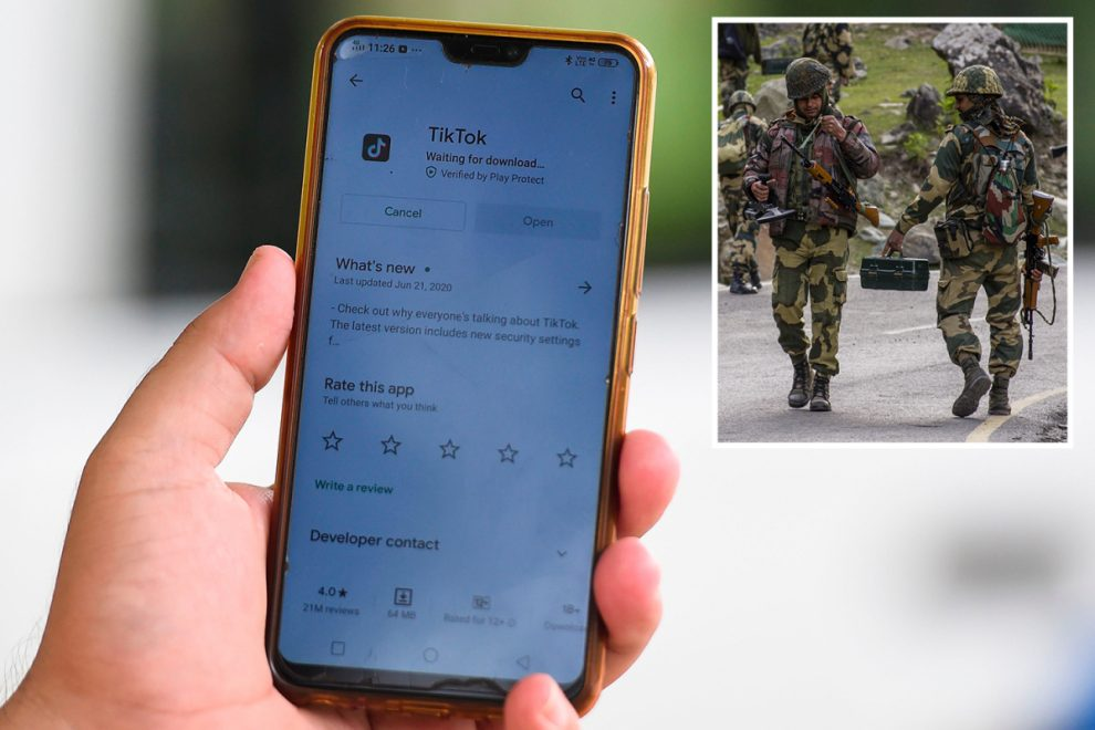India bans 'threatening' TikTok and 58 other Chinese apps over spying fears after deadly border clashes