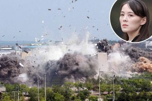 Kim Jong-un's sister blasts South Korea's 'pro-US flunkeyism' after blowing up embassy 'in major power grab'