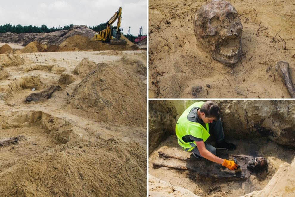 Mystery of 500-year-old mass grave containing corpses of 115 CHILDREN with coins stuffed in their mouths