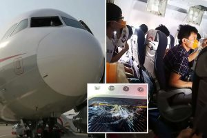 Cockpit window 'CRACKED on Boeing plane carrying 178 passengers sending it plunging 18,000 feet and trashing cabin'