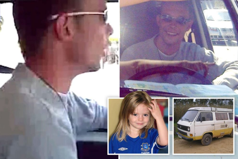 Chilling vid shows Madeleine McCann suspect Christian B at wheel of VW camper van 'he converted to hide kids'