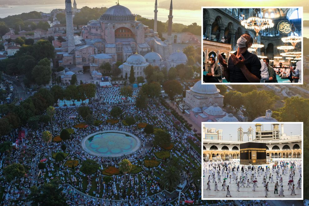 Eid al-Adha celebrations underway as millions of Muslims around the world take part in Covid-safe festivities