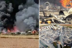 Panicked Brits flee Spanish holiday park nicknamed the 'English campsite' as it's destroyed by massive fire