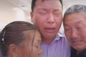 Heartwarming moment parents are reunited with their abducted son 38 YEARS after he was snatched as a toddler