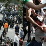 Paris cops use tear gas to disperse anti-vaxxers holding signs saying 'we are not guinea pigs' in jab passport protest